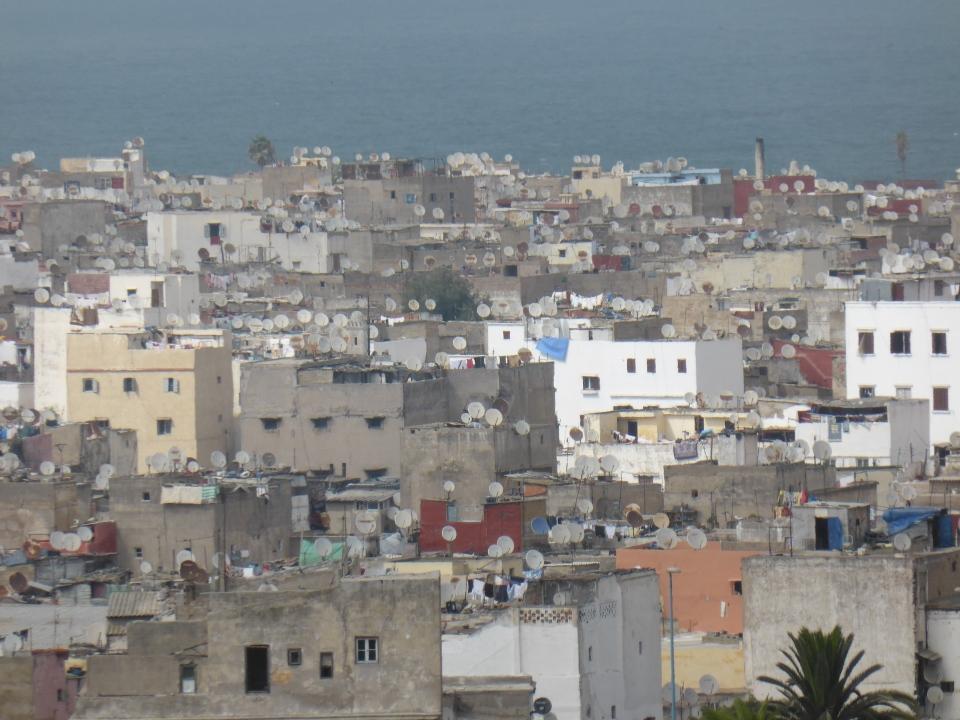 Satellite dishes in Casablanca
