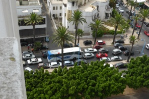 Traffic in Casablanca (view from Sacré Coeur)