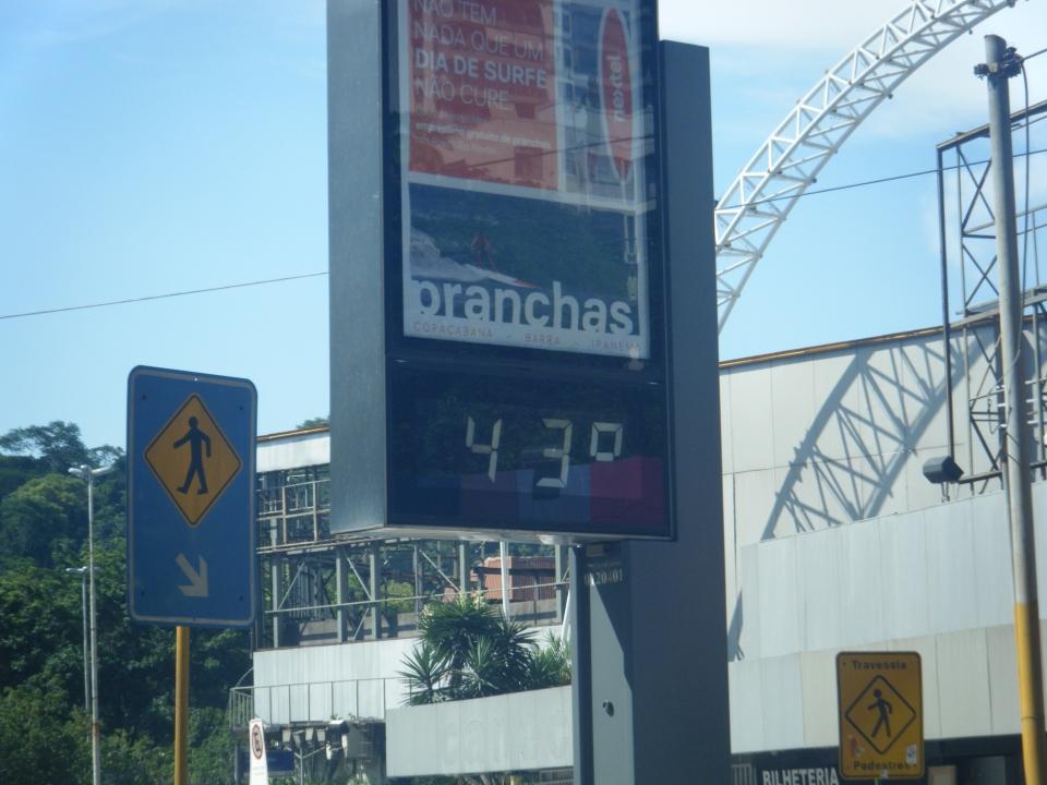 It was hot