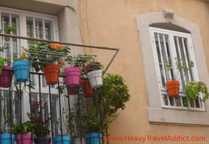 Coloured Flower Pots