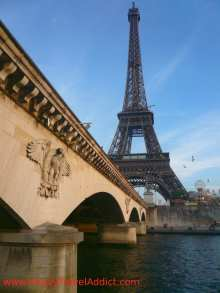Eiffel Tower seen from the boat