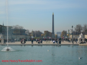 Place de la Concorde and Arc de Triomphe seen from the Tuileries