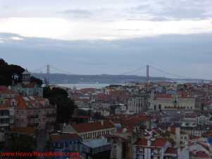 View on Lisbon and Ponte 25 de Abril