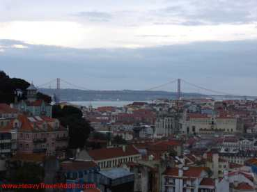 View on Lisbon and Ponte 25 de Abril
