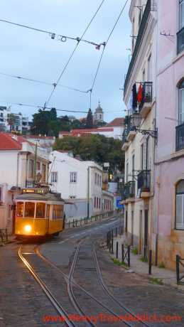 Tram in the Alfama district