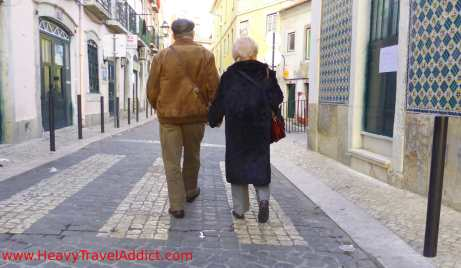 Couple in Lisbon
