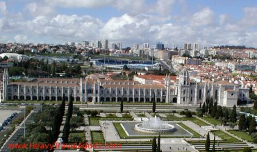 Jerónimos Monastery from above