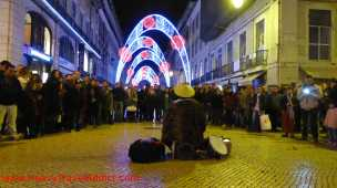 Xmas lights and street show