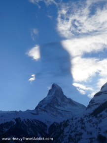 Matterhorn and its own shadow in the sky