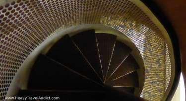 Risky toilet staircase