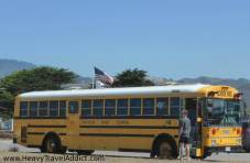 Typically American yellow School Bus