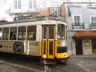 Tramway 28 in Alfama
