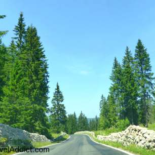 On the road to Lac de Joux