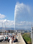 "New pier to the ""Jet d'eau"" - for free"
