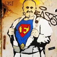 Here he goes again...superman Francis