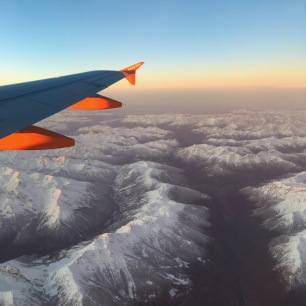 Over the alps on the way to Rome