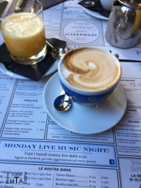 A well deserved Cappuccino...although Italians say that this is not real coffee